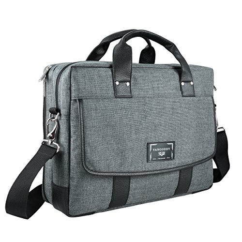 16 ~ 17.3 inch Laptop Bag, Twill Vegan Shoulder Messenger Bag For Laptop, Tablets, 2in1 Convertibles, Ultrabooks, Notebook, Chromebooks & Netbook Computers