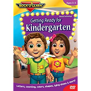 Quality Getting Ready For Kindergarten Dvd By Rock N Learn