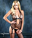 Leg Avenue Straps - Bodystocking schwarz in Gr. OS