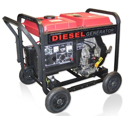ETQ DG4LE 4,900 Watt 8 HP 296cc sel Powered Portable Generator ... on