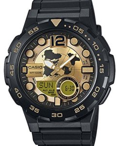 Casio AEQ-100BW-9AVEF - Reloj de pulsera hombre, Resina, color Negro