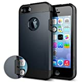 SPIGEN SGP SGP10490 Tough Armor Case for iPhone 5/5S - Carrying Case - Retail Packaging - Metal Slate