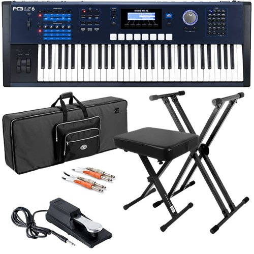 Kurzweil PC3LE6 Keyboard BUNDLE w/ Case, Stand, Bench & Pedal