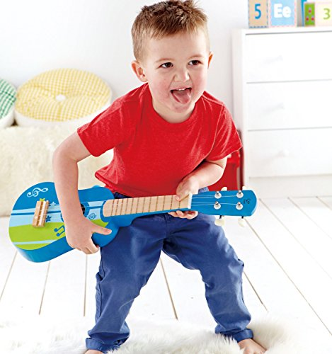 Hape-Early-Melodies-Blue-Ukulele-Wooden-Instrument