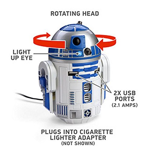 スターウォーズ R2-D2 USB 車載充電器 iPhon iPad Androido対応(並行輸入品)