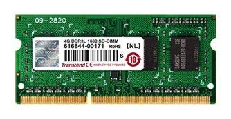 Transcend ノートPC用メモリ PC3L-12800 DDR3L 1600 4GB 1.35V (低電圧) - 1.5V 両対応 204pin SO-DIMM (無期限保証) TS512MSK64W6H