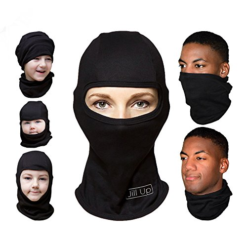 Multipurpose Unisex Balaclava Full Face Ski Mask, Black, One Size Fits Most
