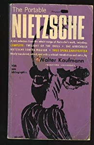 "Cover of ""The Portable Nietzsche"""