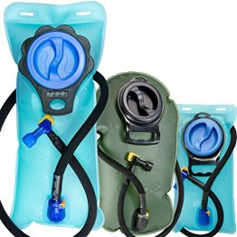 Aquatic Way Hydration Bladder Water Reservoir 2 Liter 2L 70 oz 3 Liter 3L 100 oz For Bicycling Hiking Camping Backpack. Non Toxic Easy Clean Large Opening, Quick Release Insulated Tube & Shutoff Valve