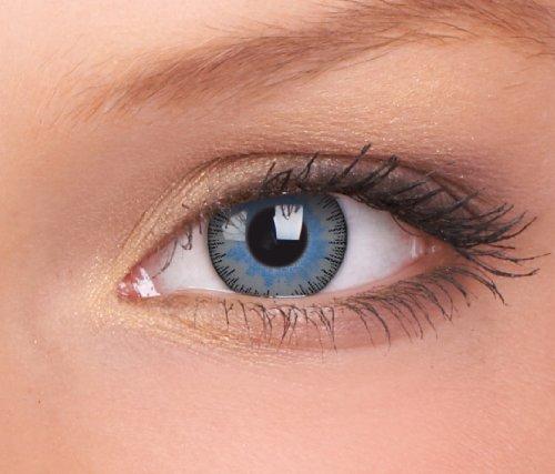 Farbige Kontaktlinsen 3-Monatslinsen & Color Contact lenses Blau - Grau/ Blue Gray 1 Paar (2 Stück) ohne Stärke