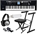 Roland BK-5 Keyboard HOME BUNDLE w/ Stand, Bench, Pedal & Headphones