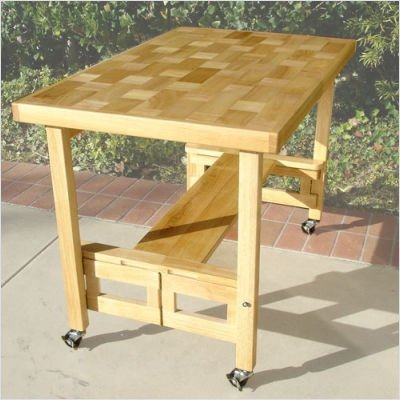 folding kitchen island work table buy low price oasis concepts oasis concepts all wood 23766