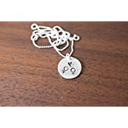 Equality Necklace Equality Symbol Gay Marriage Necklace Same Sex Marriage Male Male Necklace Equal Rights Sterling Silver Hand Stamped