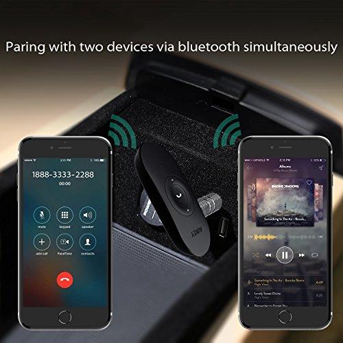 AUKEY Bluetoothレシーバー 無線オーディオ受信機 ハンズフリー通話 小型 BR-C9