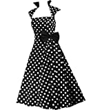 Pretty Kitty Fashion 50s Schwarz weiß Polka Dot Retro Kleid