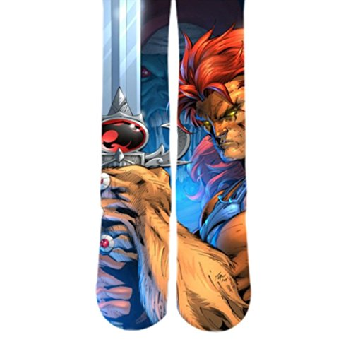 Dopesox Mens Thunder Cats Lion-O Full Print Socks One Size (6-12) White