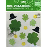 Shamrocks & Leprechaun Hats St Patricks' Day Gel Window Clings