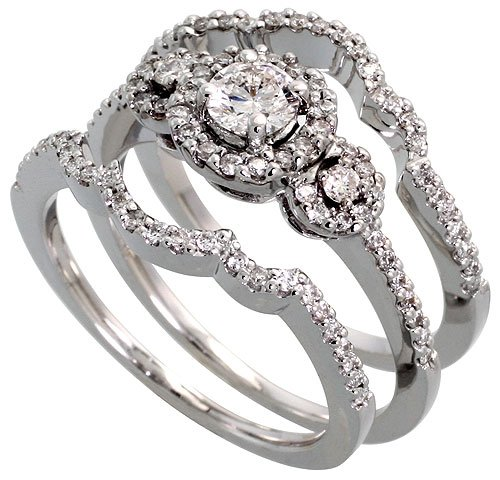 New Cheap Wedding Rings Three Piece Wedding Rings For Her