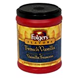 Folgers Flavors French Vanilla Ground Coffee, 11.5-Ounce Tubs (Pack of 6)