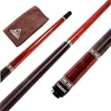 CUESOUL Luxury Pool Cue Stick Handmade African Red Wood 19 oz 1/2 Jointed Billiard Cue