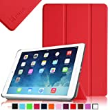Fintie SmartShell Case for Apple iPad Air (iPad 5 5th Generation) Ultra Slim Lightweight Leather Stand (with Smart Cover Auto Wake / Sleep) - Red