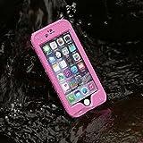 Merit™ iPhone 6 Waterproof Case IP68 Waterproof Shockproof Snowproof Dirtpoof Protection Case Cover with Fingerprint ID for iPhone 6 4.7inch (Pink)
