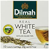Dilmah White Tea, Ceylon Silver Tips, 10-Count Luxury Leaf Teabags (Pack of 2)
