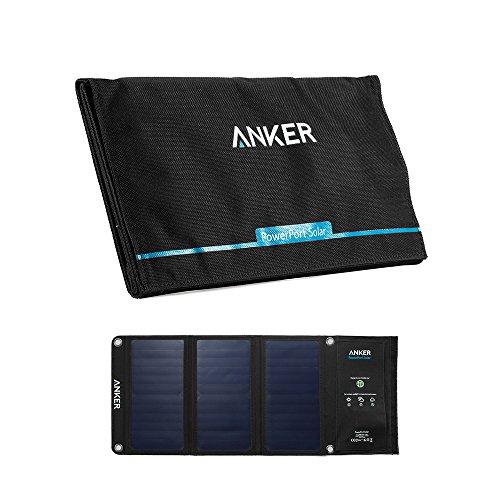 Anker PowerPort Solar 21W 2ポート USB ソーラーチャージャー iPhone 6 / 6 Plus / iPad Air 2 / mini 3 / Xperia / Galaxy S6 / S6 Edge / Android各種他対応 【PowerIQ搭載】
