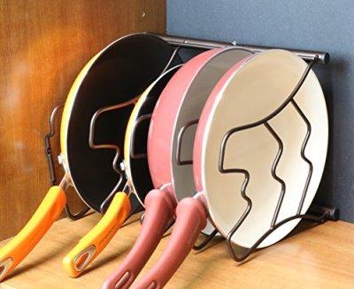Deco-Brothers-Pan-Organizer-Rack-Bronze