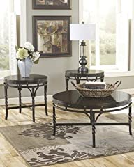 Ashley T265-13 Brindleton Metallic Brown 3 Pc Occasional Table Set