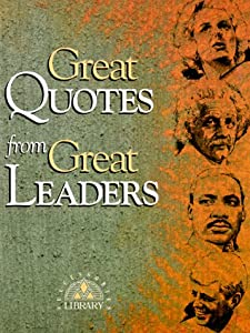"Cover of ""Great Quotes from Great Leaders..."