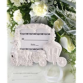 White Cinderella wedding theme frames (Set of 20) - Baby Shower Gifts & Wedding Favors