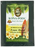 Aloha Island Coffee KONA-POD, Estate Blend Medium Roast, Kona & Hawaiian Coffee Blend,18-Count Coffee Pods