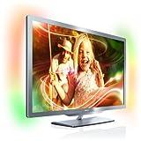 Philips 42PFL7606K/02 107 cm (42 Zoll) Ambilight 3D LED-Backlight-Fernseher, Energieeffizienzklasse A (Full-HD, 400 Hz PMR, DVB-T/C/S, Smart TV) silbergrau
