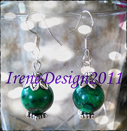 Chrysocolla & Silver Earrings