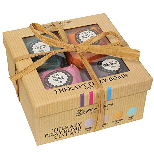 Ginger Lily Farm's Botanicals Therapy Fizzy Bomb Gift Set, 4 count