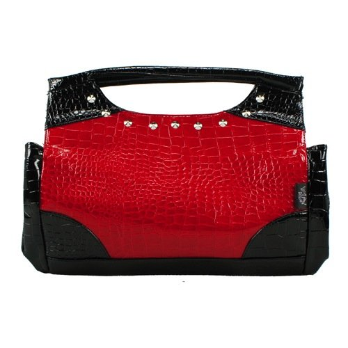 Living Dead Souls Clutchbag CROCODILE red/black