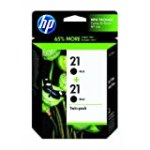 HP 21 Ink Cartridge in Retail Packaging, Twin Pack-Black for $29.71 + Shipping