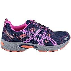 ASICS Women's Gel-Venture 5 Running Shoe, Indigo Blue/Pink Glow/Living Coral, 9.5 M US