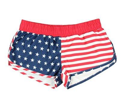 American-Flag-Womens-Printed-Shorts-Large