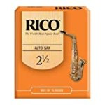 Rico Alto Sax Reeds, Strength 2.5, 10-pack for $17.82 + Shipping