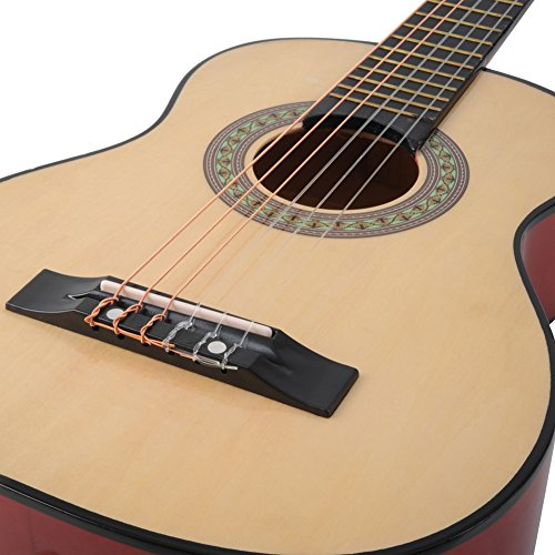 ADM-30-Inch-Beginner-AcousticClassical-Guitar-with-Carrying-Bag-Accessories-Natural-Gloss