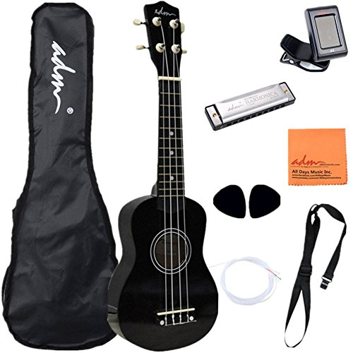 ADM-21-Economic-Soprano-Ukulele-Start-Pack-Mahogany-Color