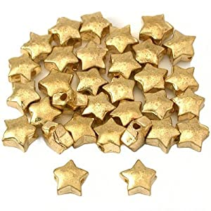 gold star beads