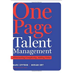 One page talent management