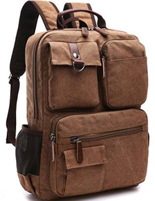 Aidonger-Vintage-Canvas-School-Backpack-Laptop-Backpack-Coffee
