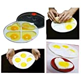 4Eggs Heart-shaped Kitchen Tool Microwave Oven Cooker Steamer IOU Mold Non-stick