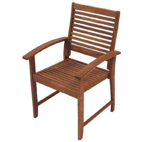 Gartenstuhl Hartholz Stuhl mit Armlehne 93x47x47,7 massiv