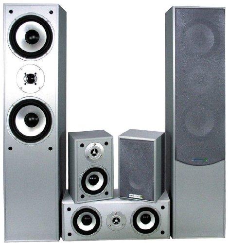 Heimkino-Lautsprecher-Set Boxensystem Heimkinosystem silber