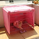 Doglemi Waterproof Pet Crate Cover for Wire Crate Dog Kennel Cage Cover 4sizes (Pink, XL)